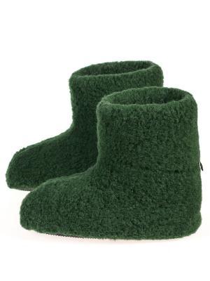 Тапочки ALWERO. Цвет: темно-зеленый