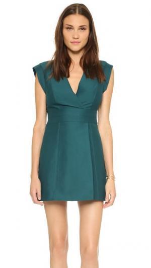 Платье с имитацией запаха Halston Heritage. Цвет: хвойный