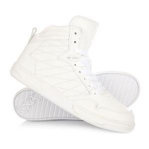 Кеды кроссовки высокие  H1top Le White K1X. Цвет: белый
