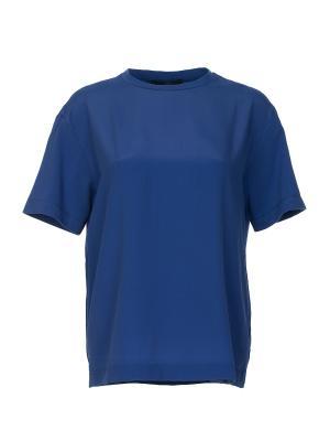 Футболка Blue les Copains. Цвет: синий