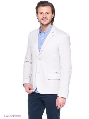 Пиджак Finn Flare. Цвет: светло-серый
