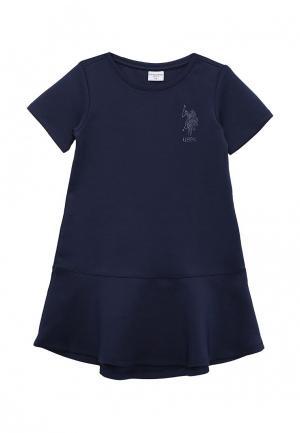 Платье U.S. Polo Assn.. Цвет: синий