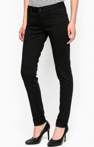 Черные зауженные брюки из хлопка и полиэстера Mavi. Цвет: черный