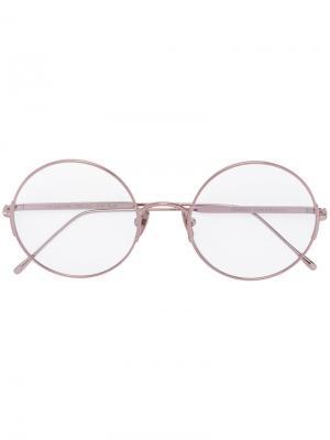 Очки в круглой оправе Valentine Sunday Somewhere. Цвет: розовый и фиолетовый