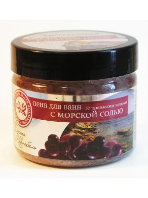 Пена для ванн Бухта Коктебель (вино) 500г Крымская Натуральная Коллекция. Цвет: белый