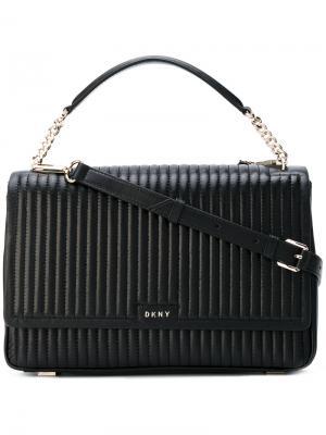 Стеганая сумка-тоут Donna Karan. Цвет: чёрный