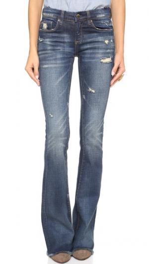 Расклешенные джинсы с эффектом поношенности Blank Denim. Цвет: d.a.r.e.