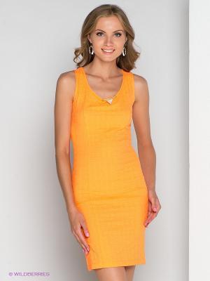 Платье TOPSANDTOPS. Цвет: оранжевый