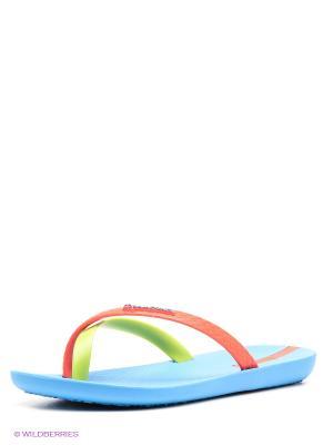 Шлепанцы Ipanema. Цвет: салатовый, голубой, красный