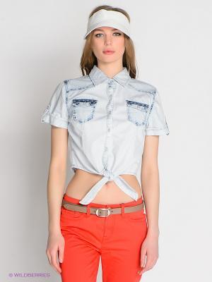 Рубашка CONVER. Цвет: светло-голубой