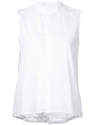 Рубашка с воротником-стойка 08Sircus. Цвет: белый