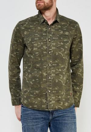 Рубашка джинсовая Colins Colin's. Цвет: хаки