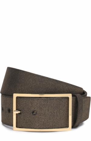 Кожаный ремень Elie Saab. Цвет: золотой