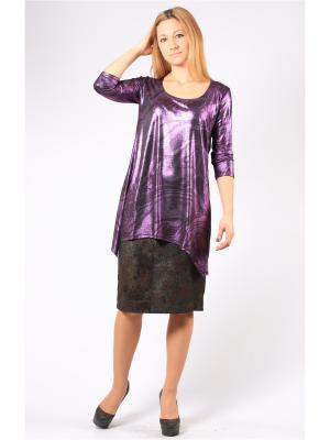 Блузка BERKANA. Цвет: фиолетовый