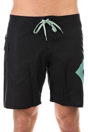 Шорты пляжные DC Lanai 18 Black/Malachite Gree Shoes. Цвет: зеленый,черный
