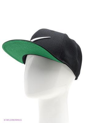 Бейсболка SWOOSH PRO - BLUE Nike. Цвет: черный, зеленый