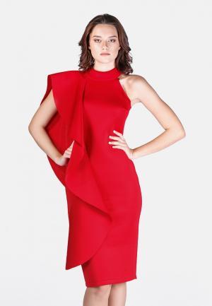 Платье Vivostyle. Цвет: красный
