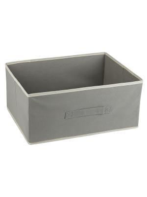 Короб STANDART Grey без крышки, 54*40*25Н см WHITE FOX. Цвет: серый