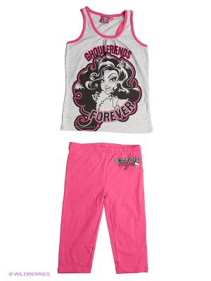 Комплект Monster High. Цвет: серый меланж, фиолетовый