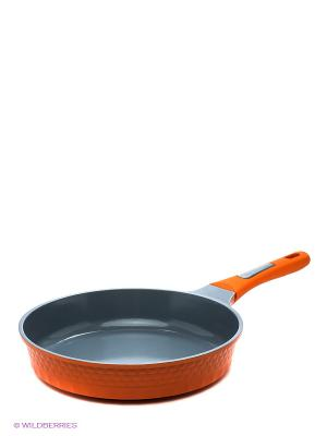 Сковорода 28 см Winner. Цвет: оранжевый