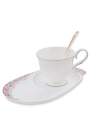 Чайная пара Каприз Примадонны (Pavone) Pavone. Цвет: белый