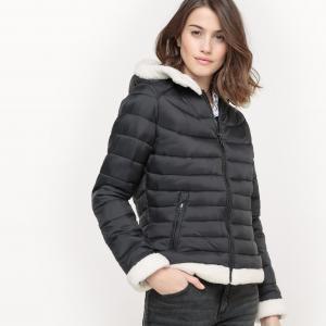 Куртка стеганая с капюшоном SUD EXPRESS. Цвет: черный