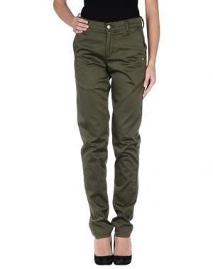 Повседневные брюки MONKEE GENES. Цвет: зеленый-милитари