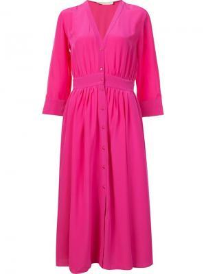 Платье с рукавами три четверти Vanessa Bruno. Цвет: розовый и фиолетовый