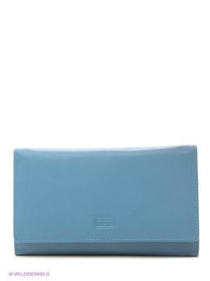 Кошелек Mano. Цвет: голубой