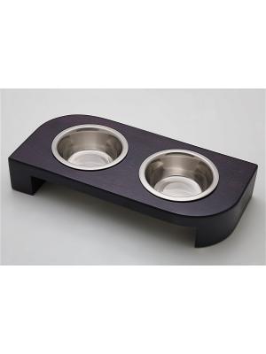 Подставка для кормления животных (дерево) 2*480мл Doggy Style. Цвет: черный
