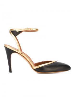 Туфли с ремешком на щиколотке Michel Vivien. Цвет: чёрный
