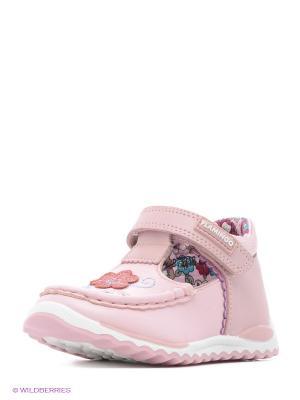 Мокасины Flamingo. Цвет: розовый