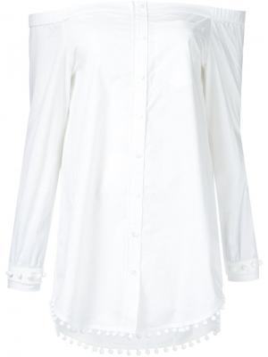 Рубашка с открытыми плечами Derek Lam 10 Crosby. Цвет: белый