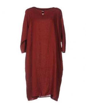 Платье до колена A.B APUNTOB. Цвет: красно-коричневый