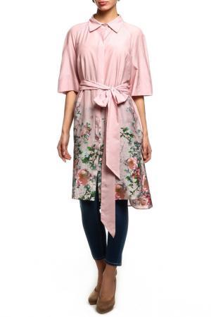 Туника-сорочка NATALIA PICARIELLO. Цвет: розовый