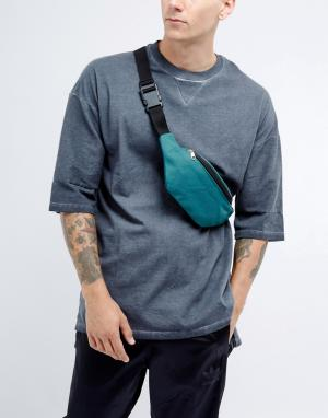 7X Фестивальная парусиновая сумка-кошелек на пояс. Цвет: зеленый