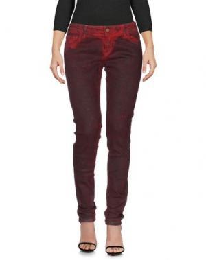 Джинсовые брюки DERRIÉRE. Цвет: кирпично-красный