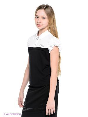 Блузка Cleverly. Цвет: черный, белый