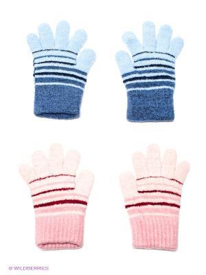 Перчатки, 2 пары FOMAS. Цвет: голубой, розовый, синий