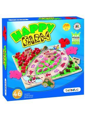 Развивающая игра Веселая ферма Beleduc. Цвет: светло-голубой