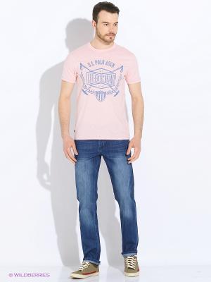 Футболка U.S. Polo Assn.. Цвет: розовый