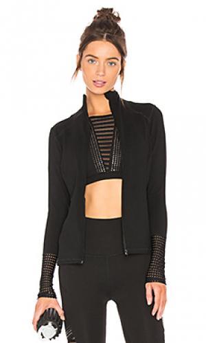 Куртка с длинным рукавом mock neck Beyond Yoga. Цвет: черный
