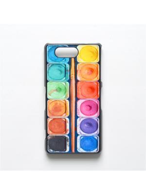 Чехол для Sony Xperia Z3 Compact Акварель с кисточкой Boom Case. Цвет: антрацитовый