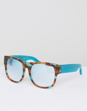 Matthew Williamson Черепаховые солнцезащитные очки с затемненными стеклами Willia. Цвет: синий