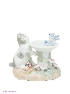 Фигурка Веселый фонтанчик Pavone. Цвет: светло-зеленый, молочный, кремовый