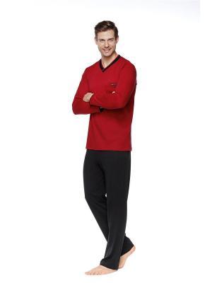 Пижама Kom. Цвет: черный, бордовый