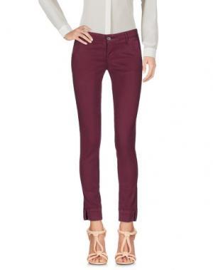 Повседневные брюки 0/ZERO CONSTRUCTION. Цвет: пурпурный
