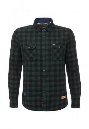 Рубашка Gianni Lupo. Цвет: зеленый