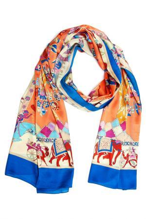 Шарф Asavi Jewel. Цвет: оранжевый, синий, бордовый