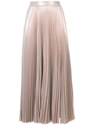 Плиссированная юбка A.L.C.. Цвет: телесный